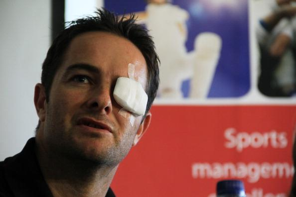 CAPE TOWN, SOUTH AFRICA - AUGUST 08: Mark Boucher speaks during a Cricket SA press conference at Sahara Park Newlands on August 08, 2012 in Cape Town, South Africa.  (Photo by Ashley Vlotman / Gallo I