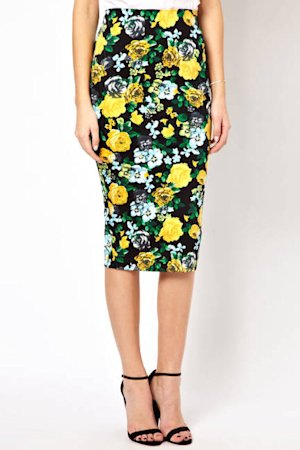ASOS Pencil Skirt in Floral Print
