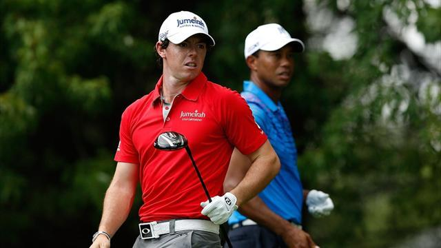 Golf - McIlroy and Woods's 36-hole speed golf match