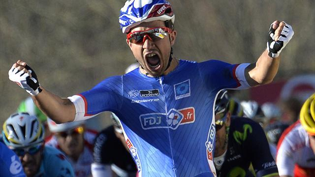 Cycling - Bouhanni wins Paris-Nice opener, Van Garderen withdraws