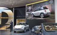 Opel's CEO, Karl-Thomas Neumann, presents the Adam Rocks urban crossover concept in Geneva