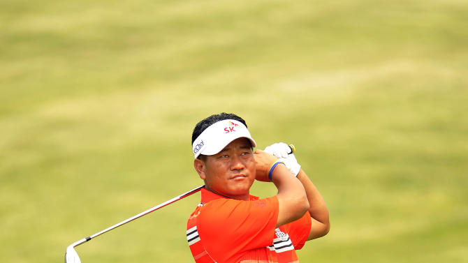 "This handout photo provided by OneAsia on May 13, 2012 shows K J Choi of South Korea during the SK Telecom Open Pro am event at the Pinx Golf Club in Jeju Island on May 16, 2012.  The 900,000 USD event is the 4th leg of the OneAsia Tour that runs from May 17 to 20. AFP PHOTO / HO / Paul Lakatos / OneAsia  -  RESTRICTED TO EDITORIAL USE - MANDATORY CREDIT ""AFP PHOTO / Paul Lakatos / OneAsia"" - NO MARKETING NO ADVERTISING CAMPAIGNS - DISTRIBUTED AS A SERVICE TO CLIENTSPAUL LAKATOS/AFP/GettyImages"