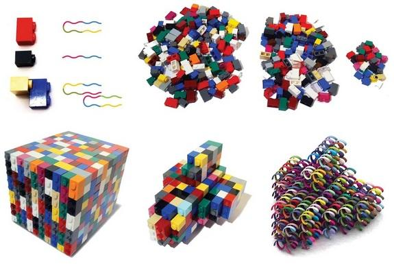 DNA 'bricks' can self-assemble into complex 3D shapes such as a miniature space shuttle.