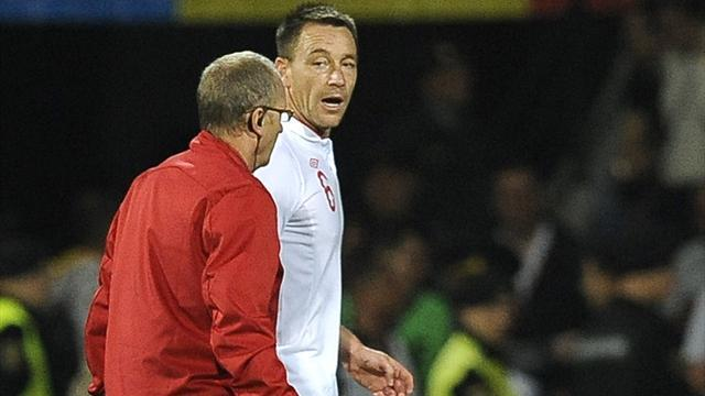 Injured Terry to miss Ukraine qualifier