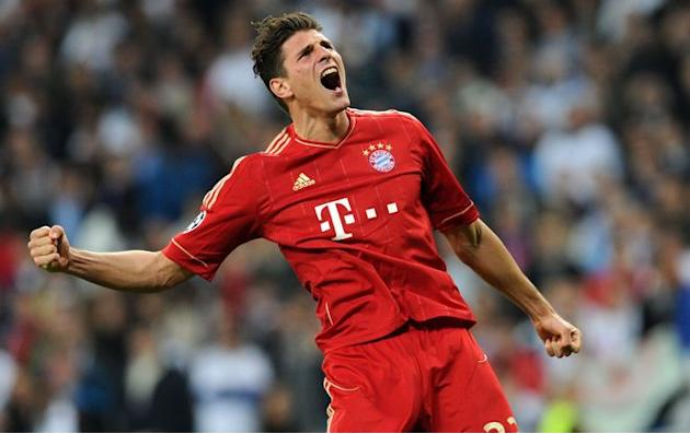 Bayern Munich's Striker Mario Gomez Celebrates AFP/Getty Images