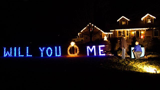 Christmas Lights Spell Surprise Marriage Proposal