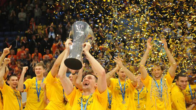 BC Khimki's Players AFP/Getty Images