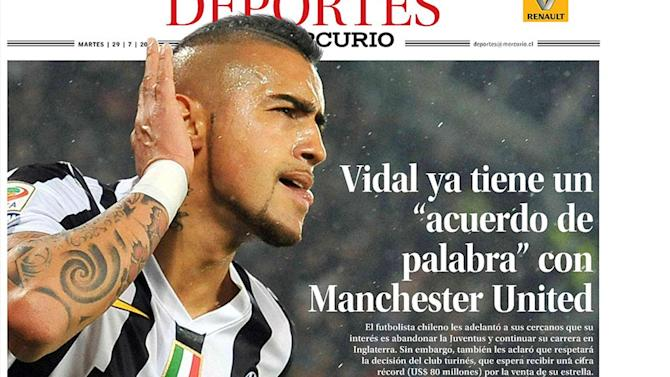 Premier League - Report: Vidal agrees £47m United deal
