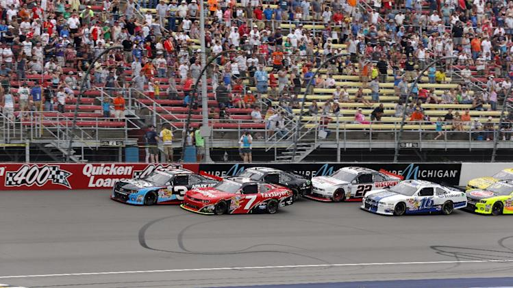 NASCAR Michigan Nationwide Auto Racing
