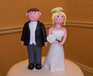 cute wedding cake topper figurines