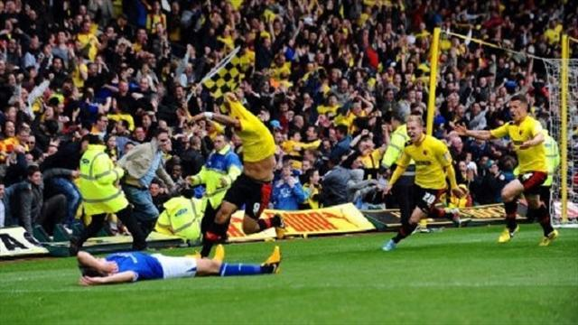 Football - Deeney sends Watford through to final