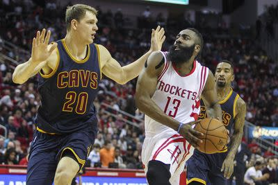 NBA schedule and results: James Harden, Rockets outlast LeBron James and the Cavs