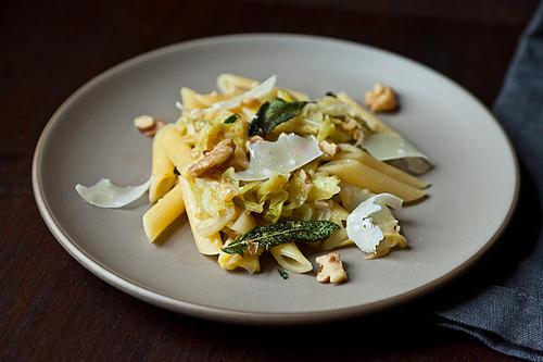 Weeknight Pasta with Caramelized Cabbage, Brown Butter and Walnuts