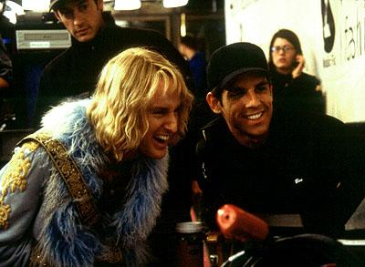 Owen Wilson and director Ben Stiller on the set of in Paramount's Zoolander
