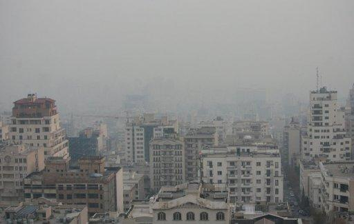 View taken from a vantage point in the north of Tehran shows the capital covered in smog on December 3, 2012. Schools, universities and government offices in the Iranian capital will be closed on Saturday for the second time in a month because of high air pollution, Tehran governor Morteza Tamadon said Thursday