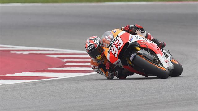 Motorcycling - Marquez wins as Yamahas hit trouble