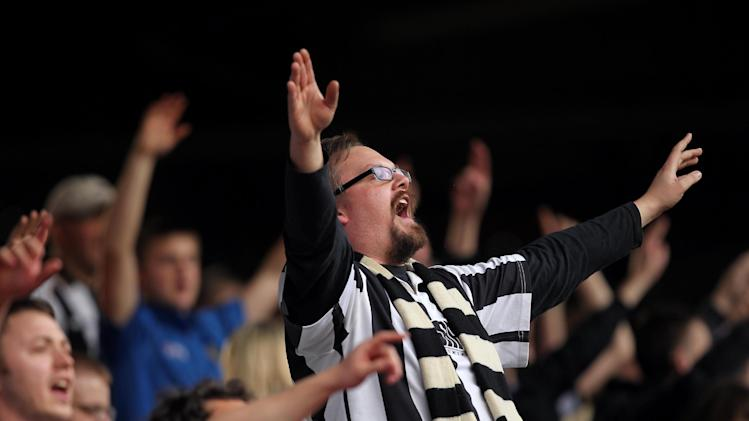 Notts County fans celebrate victory