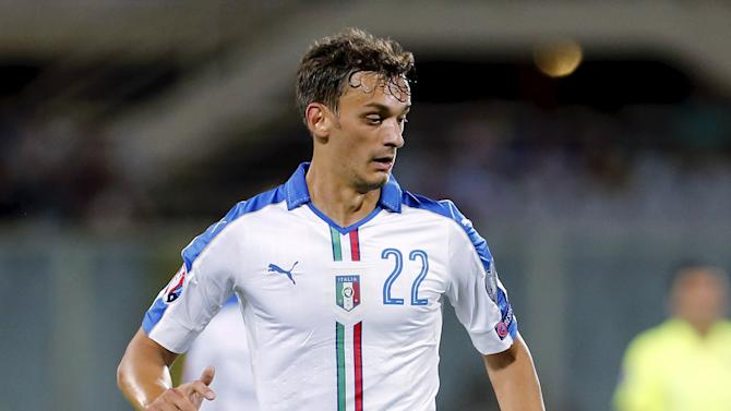 Italy's Gabbiadini controls the ball during their Euro 2016 qualification match against Malta at the Franchi stadium in Florence
