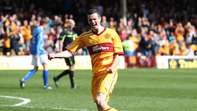 Jamie Murphy scored a first-half double for Motherwell