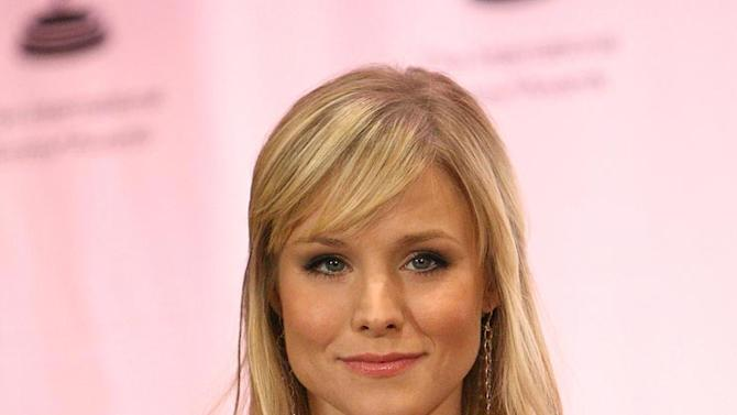 Kristen Bell in the press room of the 35th International Emmy Awards at the New York Hilton. - November 19, 2007