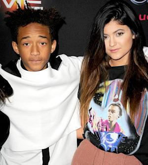 Kylie Jenner, Boyfriend Jaden Smith Hug on Red Carpet of Ender's Game Premiere