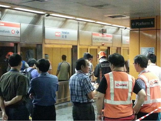 The fire started after cable wirings about five metres from the platform caught fire.