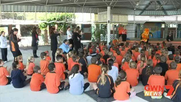 The WA cricket association visits local schools