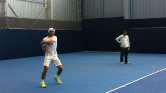 Tennis - Nadal back on court as recuperation continues