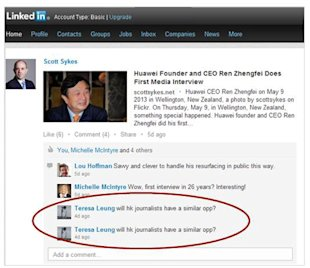Twitter Courts Journalists, Dialogue on LinkedIn and Stop Apologizing! image Twitter LinkedIn post