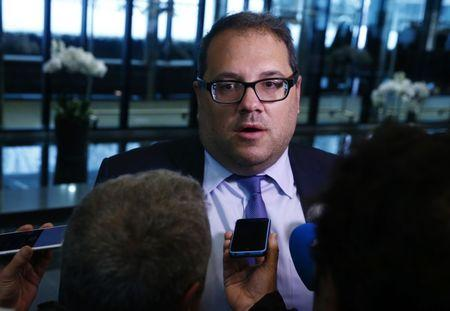 Montagliani President of the CONCACAF speaks to the media after a FIFA Council in Zurich