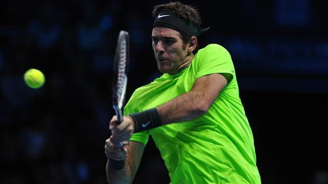 ATP World Tour Finals - Del Potro crushes off-colour Tipsarevic