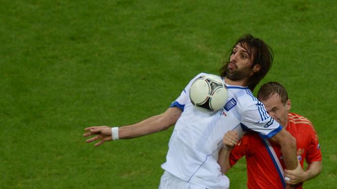 Greek Forward Giorgios Samaras Vies AFP/Getty Images
