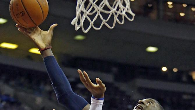 Indiana Pacers center Roy Hibbert, right, goes to the basket against Detroit Pistons center Andre Drummond during the first half of an NBA basketball game Tuesday, Nov. 5, 2013, in Auburn Hills, Mich