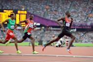 Kenya's David Rudisha (right) races towards the finishing line in the Olympic 800m. Kenya's under-fire Olympic team received a tumultous welcome home from family and friends on Wednesday, even as the government announced an inquest on the poor showing at the London Games