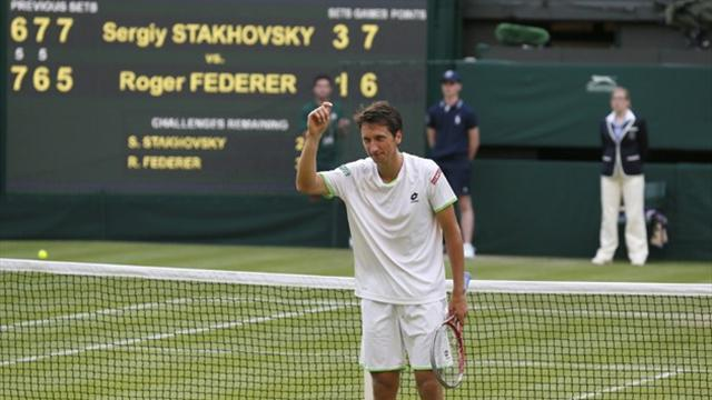 Wimbledon - Giantkiller Stakhovsky brings down 'the legend and his ego'
