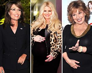 Pregnant Jessica Simpson's Weight Gain Bashed by Joy Behar, Defended by Sarah Palin