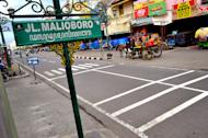 Welcome to Malioboro: A view of the most famous street in Yogyakarta. (