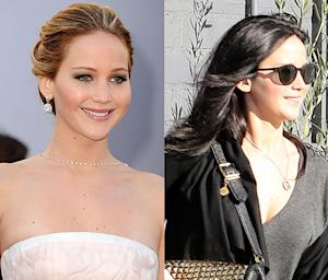 Jennifer Lawrence Goes Brunette After Oscar Win: Picture