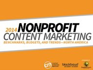 Nonprofit Content Marketing Research: Successes and Challenges image content marketing nonprofit research study