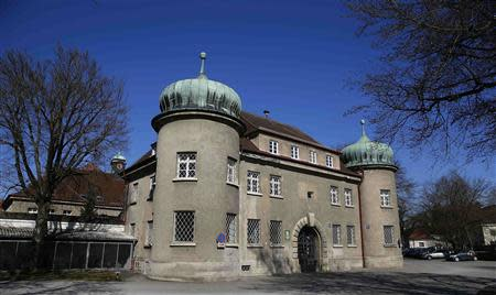 General view of entrance building of Landsberg County jail where former Bayern Munich President Hoeness is expected to serve his prison sentence, in Landsberg am Lech