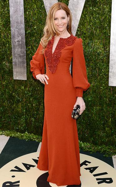 Worst dressed: Leslie Mann The This Is 40 actress Andrew Gn Pre-Fall 2013 Vanity Fair Party Image © Rex