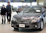 Toyota Camry at the company's showroom in Tokyo on January 27, 2010