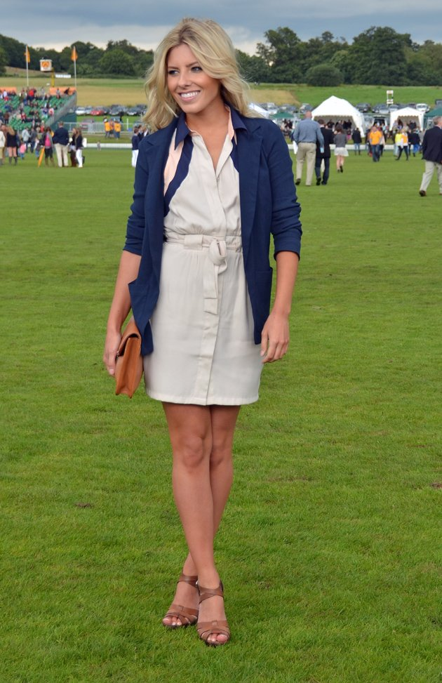 Mollie King at the polo