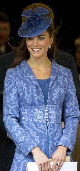 This weekend, Kate Middleton wore a blue brocade jacket to Prince Philip's 90th birthday that looked very familiar