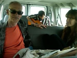John Waters Picked Up Hitchhiking by Indie Band Here We Go Magic