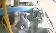 Hero Bus Driver In Close Shave With Huge Pole