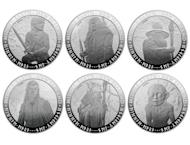 "Image provided by the New Zealand Post shows a set of three NZ$1 coins bearing images of characters from the film ""The Hobbit"". New Zealand will release commemorative ""The Hobbit"" coins worth thousands of dollars ahead of next month's premier of the latest Tolkien epic"