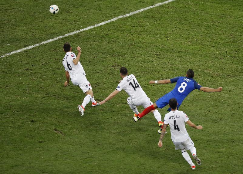 France's Dimitri Payet scores their second goal