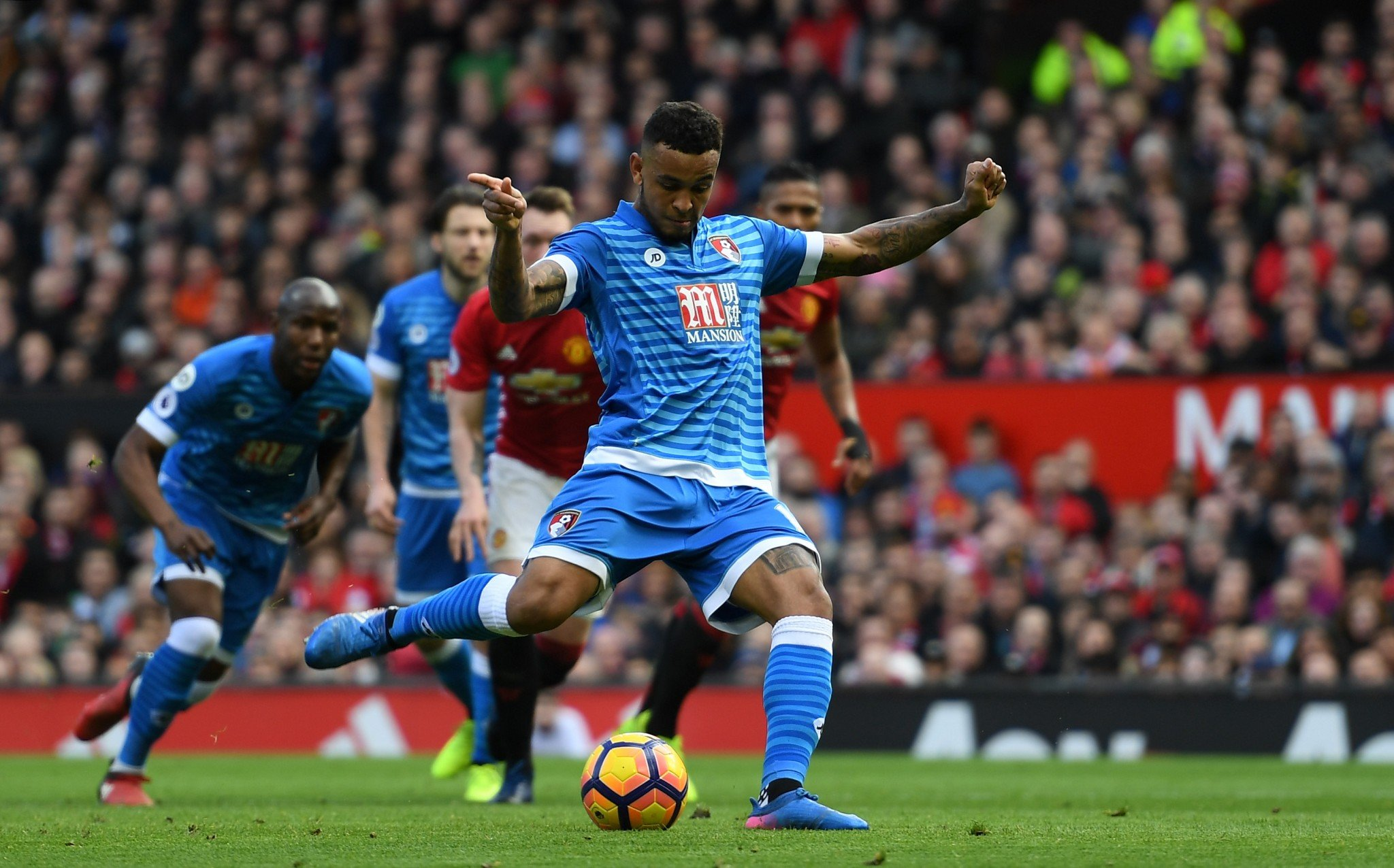 Josh King levels for Bournemouth from the penalty spot