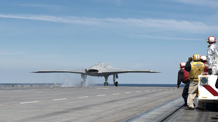Navy Launches First Drone From Aircraft Carrier